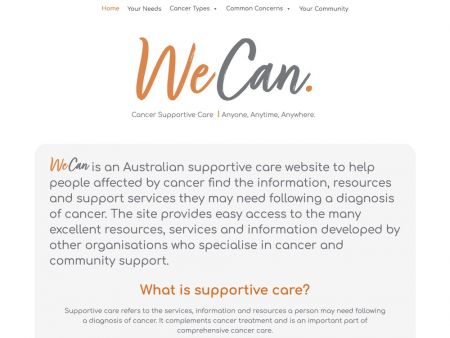 WeCan Cancer Supportive Care for people affected by cancer