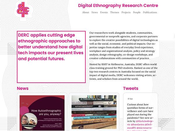 DERC website homepage desktop screen image