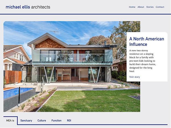 MEA website homepage desktop screen image