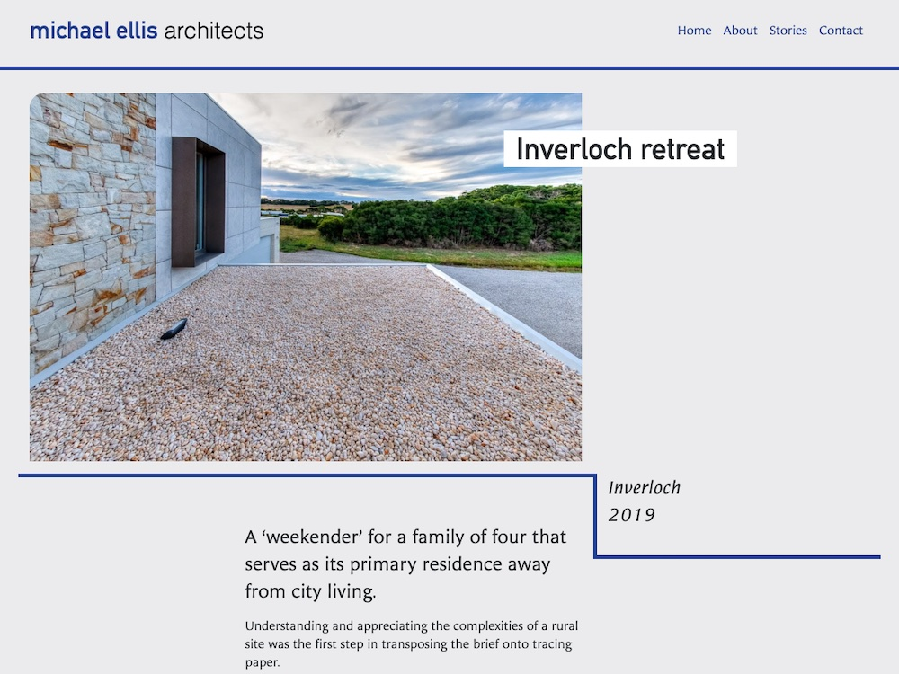 MEA website project page desktop screen image